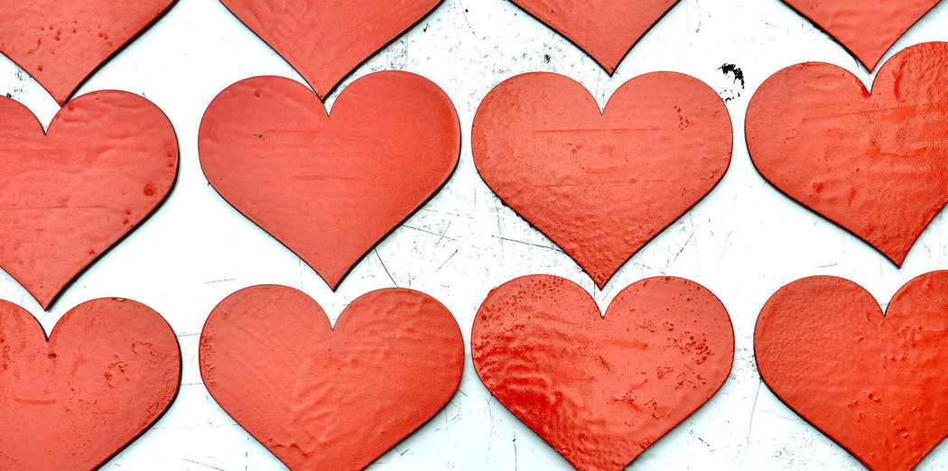 heart shapes Love Paint Rowing Valentine's Day  Wood Close-up Communication Day Heart Shape I Love You ! Indoors  Love Many No People Red Red Paint Red Painted Wood
