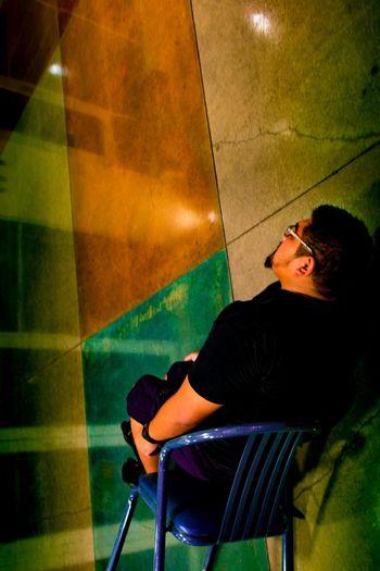 WTF? Concrete Floor Chair Disoriented UofA Arizona Walking Around Student Union Surreptitious Night Photography Streetphotography