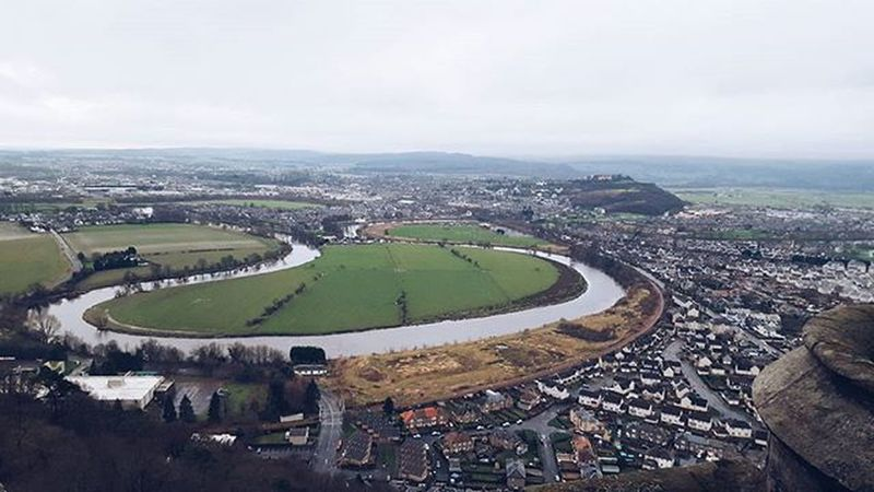 The view from the William Wallace Monument part II And it was so cold too. WallaceMonument Stirling Freedom Insta_Scotland Instascotland VisitScotland Explorescotland Vscotland VSCO Vscocam Latergram Ig_Scotland IgersScotland View River