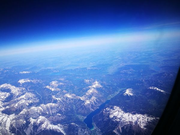 On my way to Milan Aerial View Blue Airplane Sea Cityscape No People Flying Outdoors Air Vehicle Day Scenics City Sky Nature Planet Earth Satellite View South Tirol Atmosphere Mountainview Panoramaview Alps Italy Cosmicenergy Cosmic