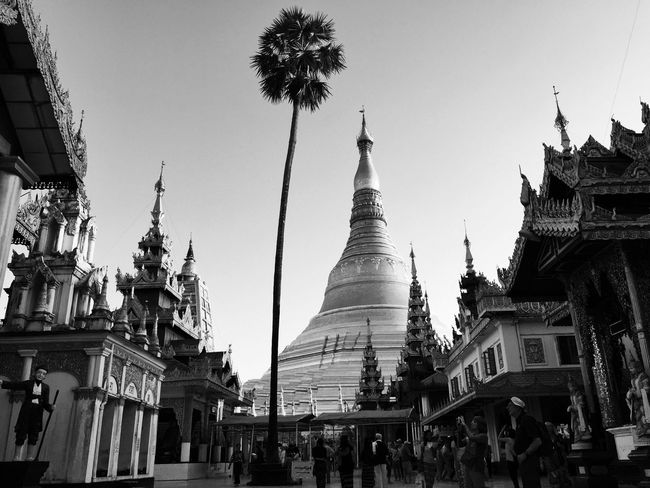 Evening At Shwedagon Pagoda