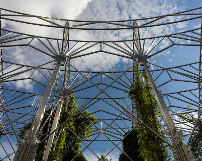 Low Angle View Of Steel Structure At Park
