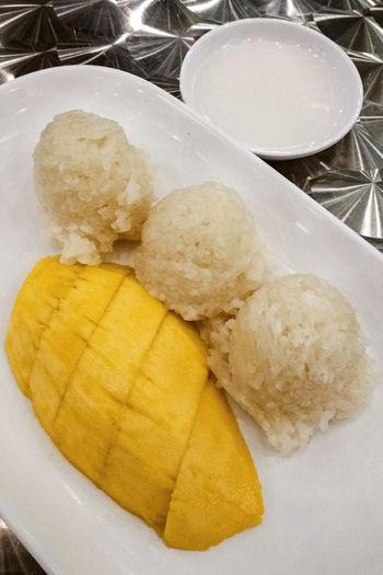 Mango Sticky Rice Thailand Dessert Thai Food Restaurant Bangkok