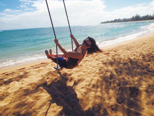 Enjoying The Sun Sunshine Relaxing Road To 50 Hawaii Swinging swing
