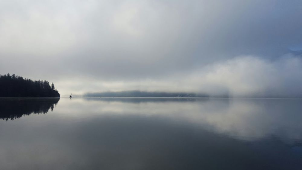 Cloudy morning at Wolfgangsee Lake, Salzburg AustriaEyeEm Nature Lover Tadaa Community Amazing View NEM Landscapes Landscape_Collection Respect For The Good Taste Better Look Twice Foggy Morning Horizon Over Water Landscape Lake Stillness Reflection Beautiful Nature Calming Views Shades Of Grey Oneofthosedays