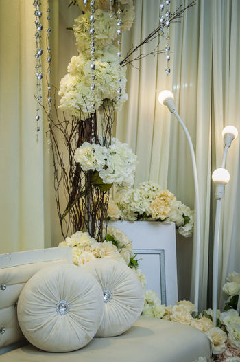 Altar Decorations Flowers Object Pillows Seating Still Life Wedding