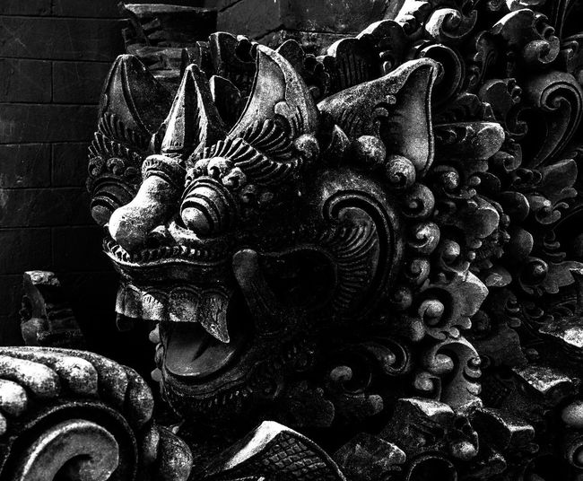Bali Bali, Indonesia Worship Hindu Hinduism Art And Craft Sculpture Representation Statue Creativity Craft Belief Spirituality Religion No People Architecture Close-up Built Structure Building Human Representation Carving - Craft Product Old Place Of Worship Carving