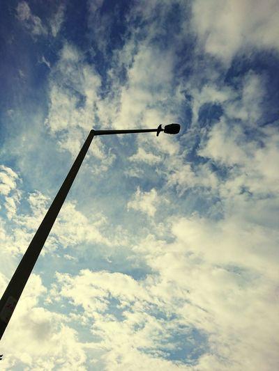 Sky Cloud - Sky Road Signal Silhouette Electric Pole