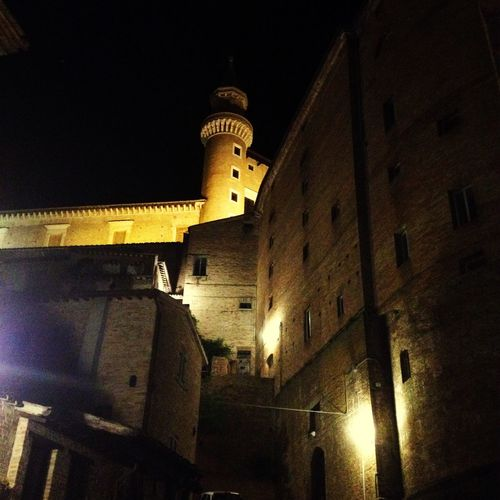 Urbino Architecture Italy Palace Montefeltro Italy SLICE Enjoying The View Night Lights