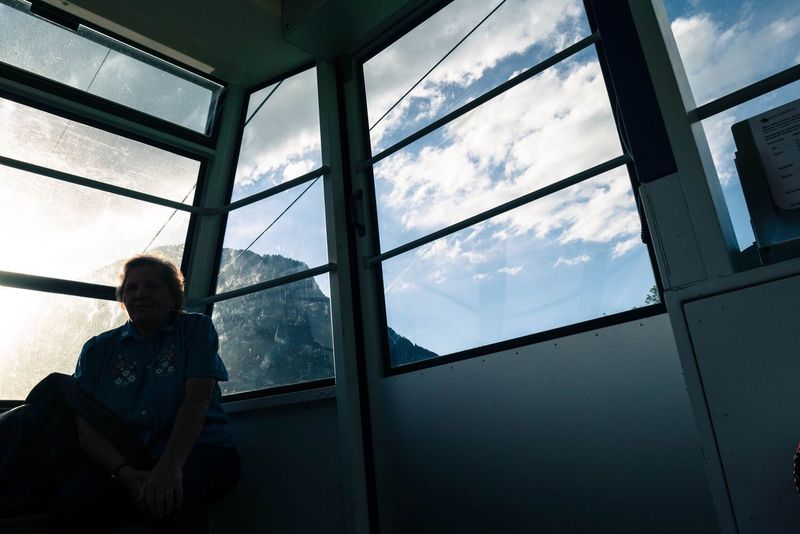 Lady Snapshots Of Life Moments Detail Details Cable Car Cabin Cable Railway Sun Sunset Taking Photos Enjoying Life Relaxing Mountain Switzerland Eyeemphoto