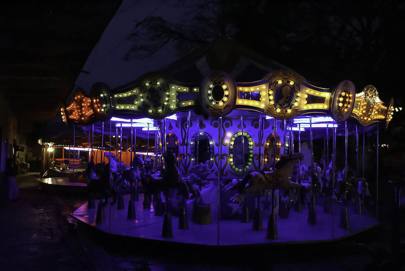 At The Fair Night Lights Color Carousel