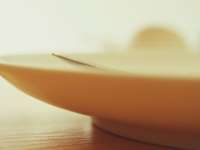 Close-Up Of Plate On Table