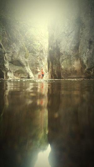 Olhos de Água Children Rocky River Bat Cave Water Reflection