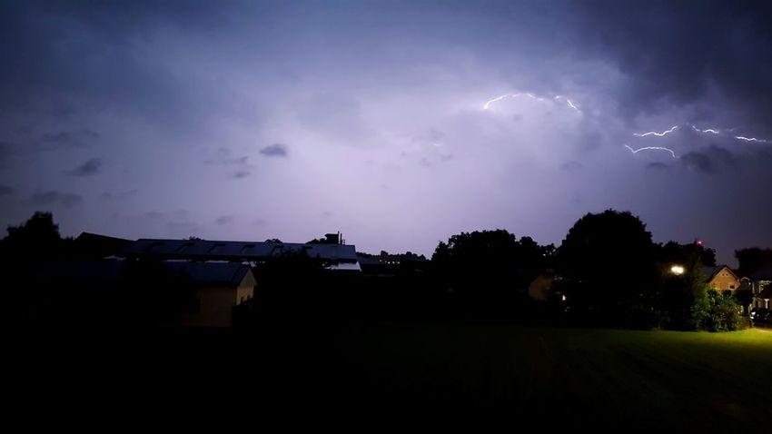 Night Cloud - Sky Landscape Sky Outdoors No People Tree Nature Astronomy Lighting storm
