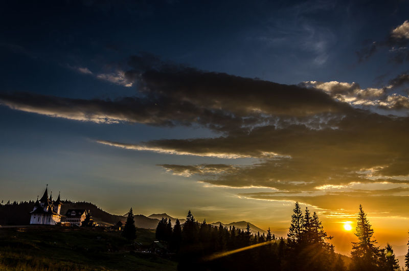 Cloudscape Cloudy Landscape Light Monastery Nature Orange Color Outdoors Sky Sunset