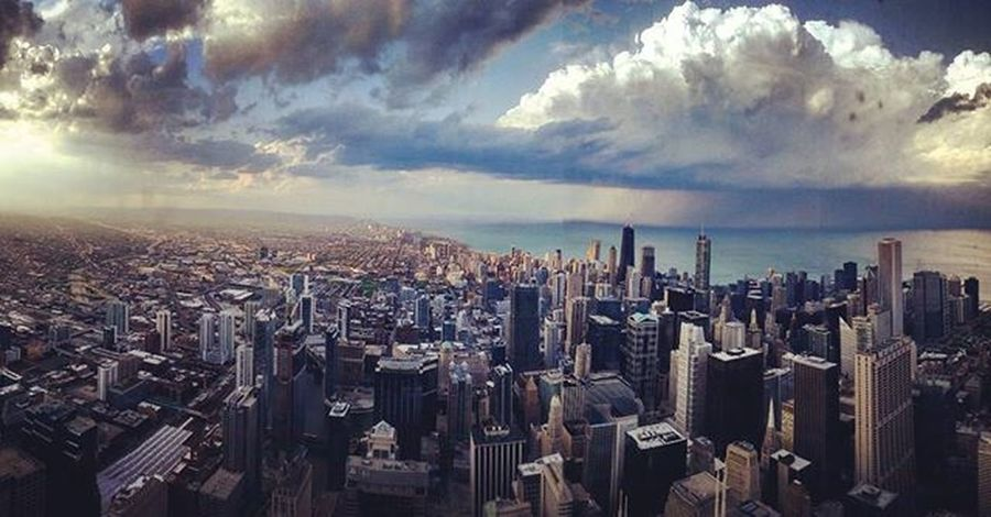 Chicago ChiTown Travel Willistower City Landscape Wallpaper Clouds Skyline Sky Tower Building Skyscraper Instagood Instadaily Beautiful