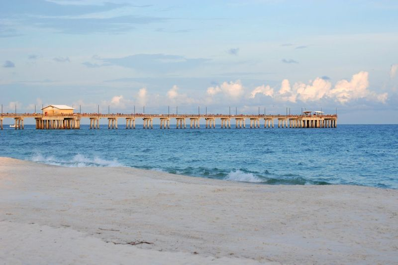 Gulf State Park Pier Architecture Beach Cloud - Sky Gulf State Pier Nature Pier Sand Sea Sky Water White Sand