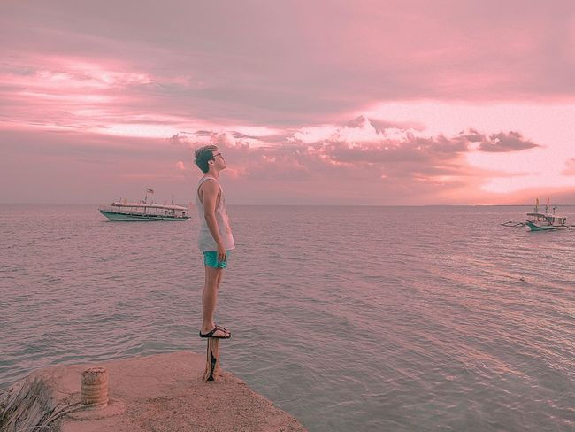 Lost In The Landscape Sea Full Length Sunset Beach Water One Person Beauty In Nature Real People Outdoors Sky Vacations Scenics Nature Standing Tranquility Sand Lifestyles Nautical Vessel Horizon Over Water Day Connected By Travel Be. Ready. Love Yourself EyeEmNewHere Colour Your Horizn