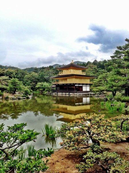 At 鹿苑寺(金閣寺) Kinkaku-ji Temple Kyoto Japan
