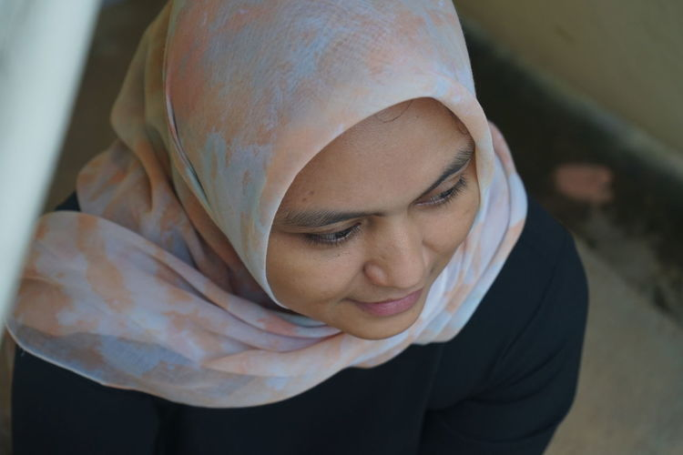 Portrait of asian muslim women