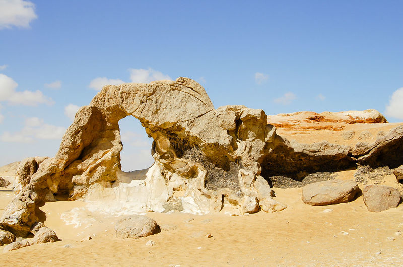 Crystal Mountain - Egypt Desert Egypt Natural Arch Quartz Arch Arid Climate Crystal Mountain Geology Nature Rock Formation Sand White Desert