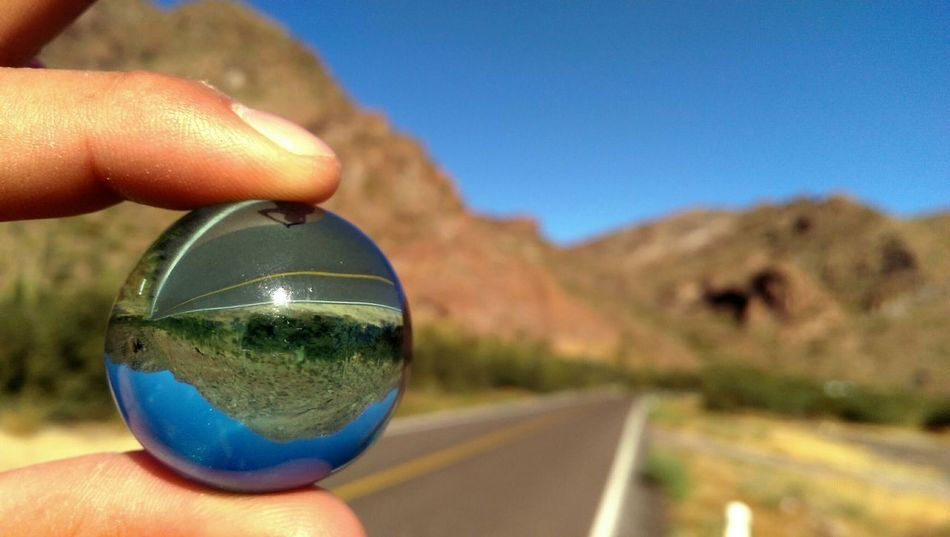 In The Road Hiking Reflection Lanscape Depth Of Field