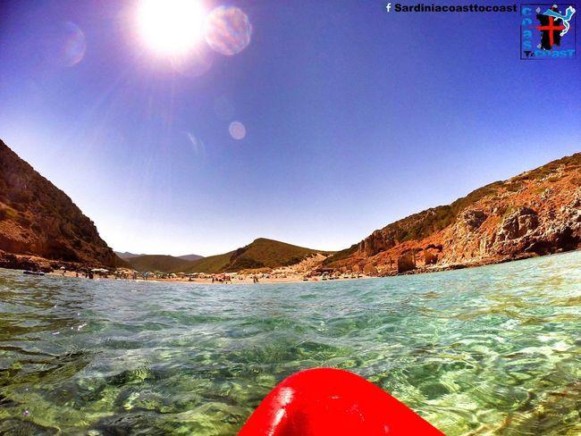 Enjoying The Sun Enjoying Life Amazing View Colorful Water Sardinia Gopro Trip Sardiniacoasttocoast