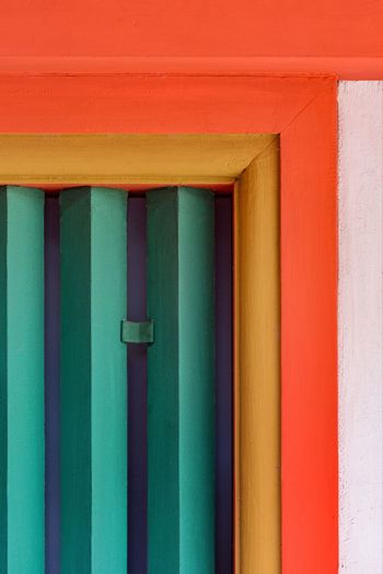 Close-up of multi colored wall