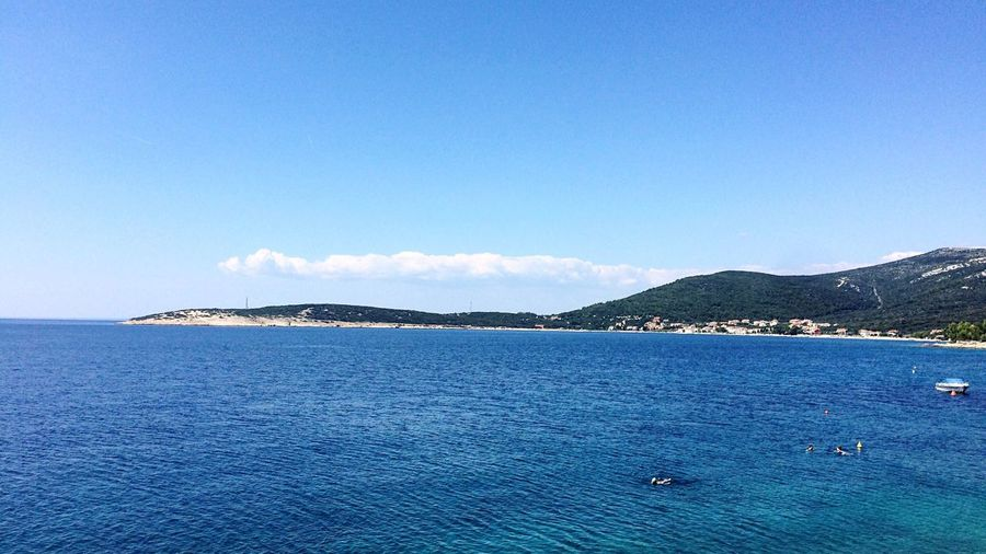 Blue Water Sea Tranquil Scene Scenics Tranquility Beauty In Nature Idyllic Waterfront Seascape Nature Non-urban Scene Calm Sky Day Outdoors Majestic Cres  Cresisland Croatia