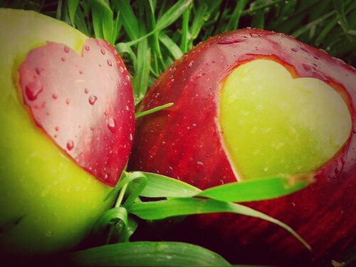 apple#heart#love#red#green