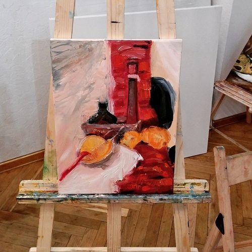 Рисовать с натуры - еще тот challenge, скажу я вам😏 И да, это натюрморт😉 Udividali Udivi_dali удивидали удиви_дали Oilpaints Oilpainting масляныекраски мастихин Mestichino картинамаслом палитра натюрморт кисть Oilbrush апельсины Oranges Challenge рисунокснатуры StillLife