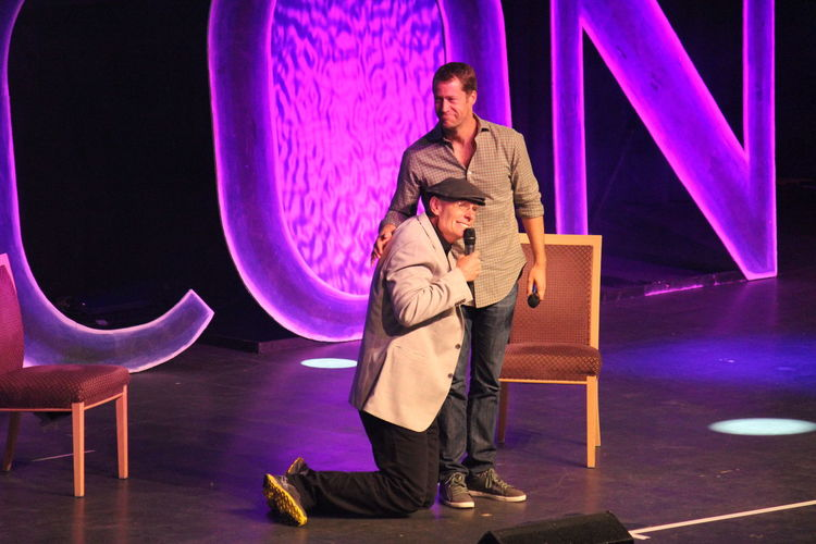 Matt Frewer and Colin Ferguson from Eureka @ FedCon 22 in 2013 Colin Ferguson FedCon Fedcon 22 Matt Frewer Actors On Stage Eureka Full Length Hollywood Actor Illuminated Indoors  Kneeling Down Leisure Activity Lifestyles Looking At Camera Real People Sci Fi Convention Stage Standing Women Young Adult