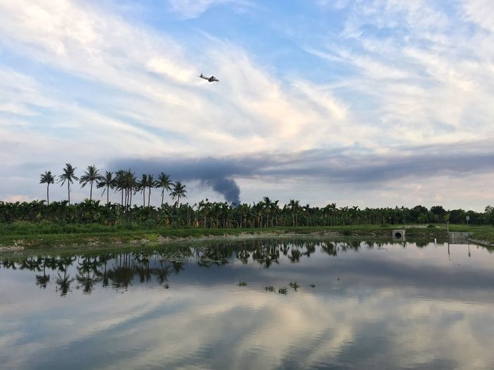 Water Cloud - Sky Waterfront Fire