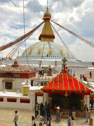 Boudhanath Visitnepal Boudhanath Stupa Large Group Of People Real People Architecture Adventures In The City Spirituality Religion Belief