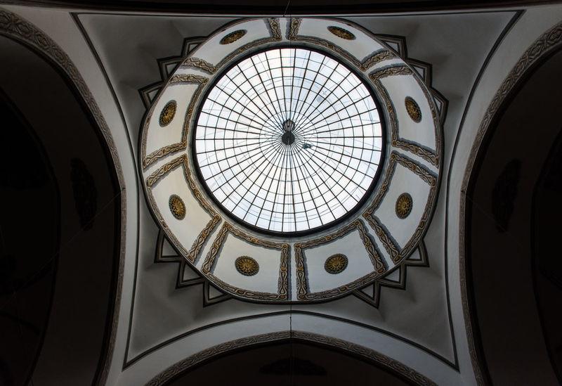 Bursa / Turkey Architecture Indoors  No People Grandmosque Dome Glassdome Ulucami Perpective Reverse Light Tradational Architecture