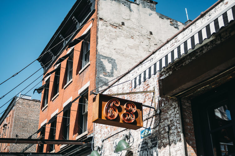 Architecture Meatpacking District New York City Outdoors Sign Building Exterior Built Structure Low Angle View
