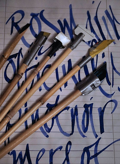 Bamboo Pen Calligraphic Calligraphy Calligraphyart Cola Pen Pen Practicing Practise Calligraphy