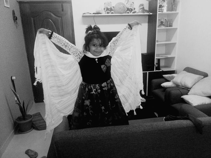 butterfly Little Butterfly Wings To Your Dreams Wings To Fly Cute Girls Indoors  One Person People Home Interior One Woman Only Veil EyeEm Ready