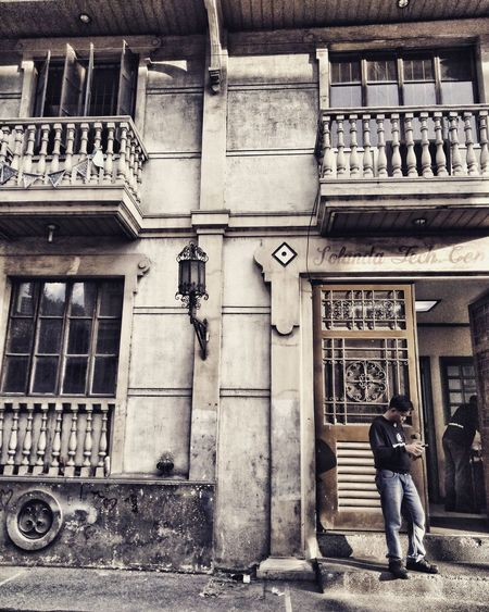 Solanda in the Afternoon Man One Person Two People Streetphotography Street Day Afternoon Historical Building Old Buildings Intramuros Manila Intramuros,manila Intramuros| Philippines ManilaStreetPhotography Manila, Philippines