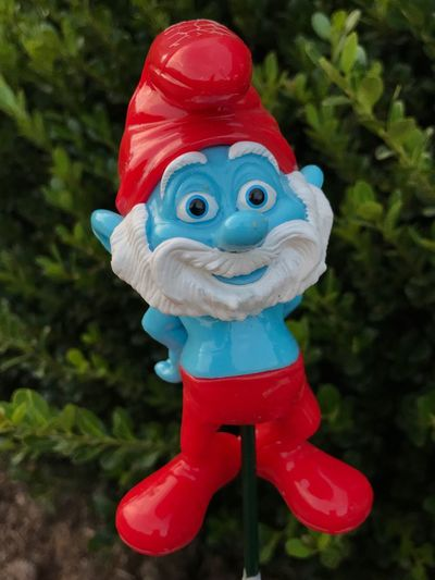 Papa Smurf Toy Red Animal Representation Plastic Artificial No People Close-up Childhood Multi Colored Day Clown Outdoors The Week On EyeEm