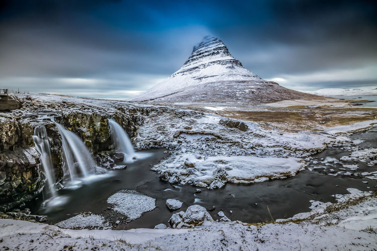Kirkjufell Mountain on the Snæfellsnes peninsula in Iceland. Take from a trip I took a year or so ago. EyeEm Best Shots EyeEm Gallery EyeEmBestPics EyeEmNewHere Ice Iceland Iceland Memories Kirkjufell Landscape Photography Landscape_Collection Nature Photography Sony A7RII Travel Photography Winter Iceland_collection Island Landscape Landscape_photography Long Exposure Photography Longexposure Nature_collection Sony Alpha Travel Destinations Water Waterfall EyeEmNewHere