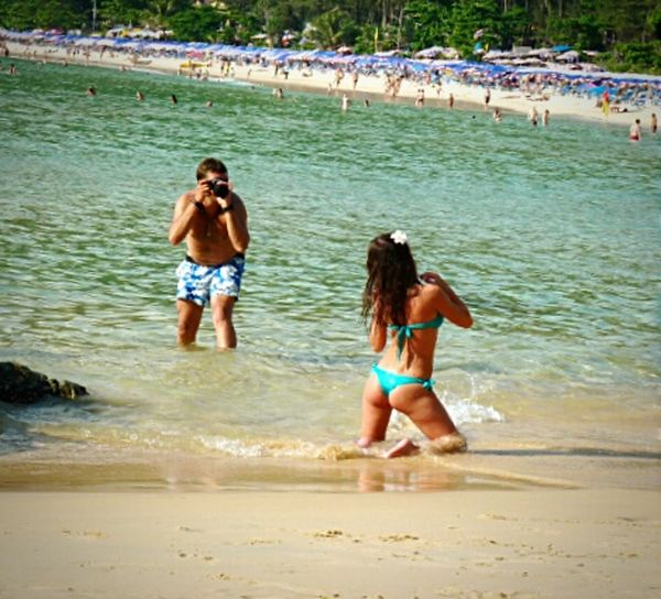 Look at me, Honey... Beach Photography Nai Harn Beach  Phuket,Thailand Phuket_beach Beach Life Shootingstar Beach Lovers Taking Photos Of People Taking Photos The Moment The Moment - 2015 EyeEm Awards