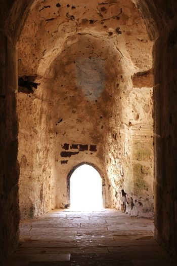 History Indoors  No People Castle Day Vacations Mobiography City Photograph Mobile Phone Photography Nature #sand water sky Alexandria Alexandria Egypt Qaitbay Castle Qaitbey Citadel Alexandria Sea Arch Ancient Architecture Travel Destinations Built Structure
