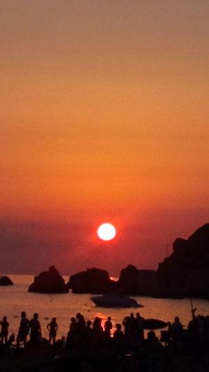 Warmth Summer Sunset Golden Bay Malta Silhouettes