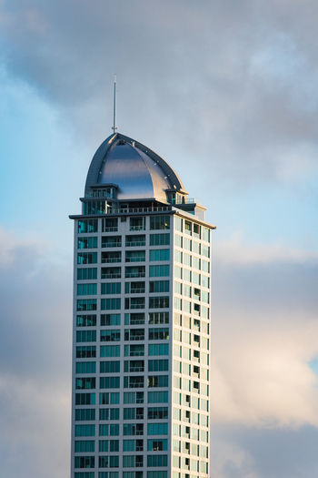 sky scraper in takapuna new zealand in the evening. Top Travel Architecture Building Building Exterior Built Structure City Cloud - Sky Day Evening Low Angle View Modern Nature New Zealand No People Office Building Exterior Outdoors Sky Skyscraper Spire  Tall - High Tower Travel Destinations Window The Architect - 2018 EyeEm Awards