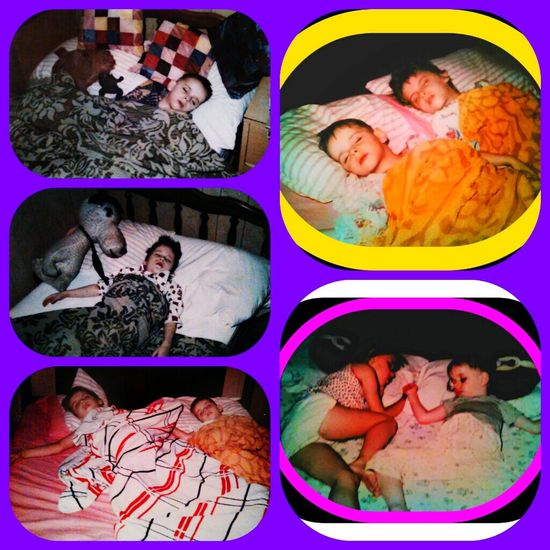 Sleeping Zzzzzzzzz That's Me My Little Brother ❤ My Big Sister  When We Were Kids