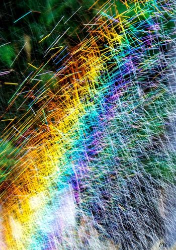 Multi Colored No People Abstract Outdoors Day Rainbow Water Jet