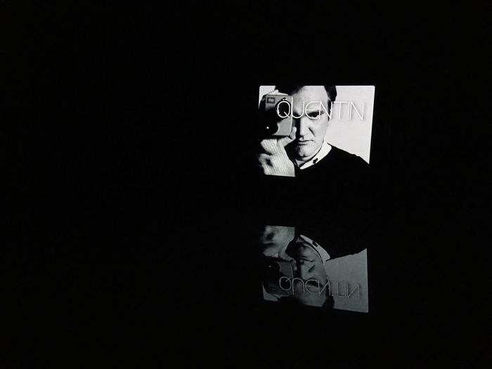 Quentin Quentintarantino Quentin Shotwithiphone6splus Apple Watch Celebrity Hollywood God MOVIE Nerd Geek Reflection Blackandwhite B&w Q Light And Reflection