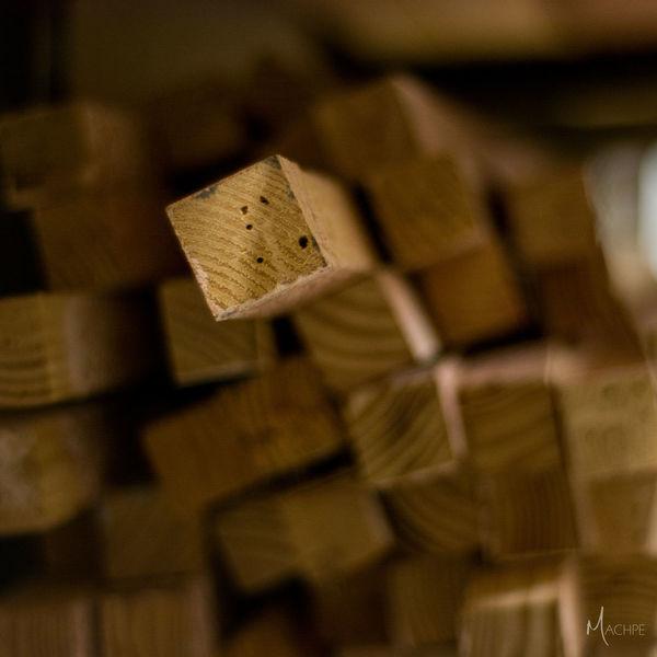 Arrangement Close-up Detail Order Selective Focus Stack Wood Wood - Material