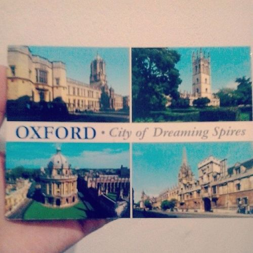 Postcard Oxford City Dreaming Spires Cityofdreamingspires 67 Penny Stamp Top left Christchurch Top right Magdalencollege Down left Radcliffe Camera Radcliffecamera Down right Thehigh Uk Unitedkingdom Sent 27/04/2011 Spring Received 19/05/2011 Sofialee21